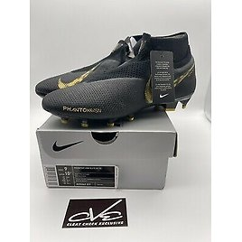 NEW Nike Phantom Vision Elite DF FG Soccer Cleats ACC Black Size 9 Ghost Lace