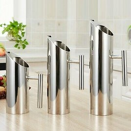 Stainless Steel Water Jug Pitcher Carafe Milk Drink Juice Kettle Ice Guard