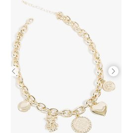 Charm Pendant Chain Choker Necklace   Forever 21