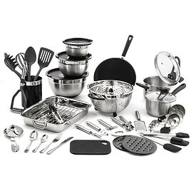 Old Dutch International 58 Pieces Stainless Steel Cookware Set