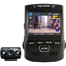 Rexing V1P Plus Front and Rear Dash Cam Black V1P-PLUS-BBY