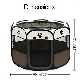 Pet Bed Portable Pet Tent Folding Dog House Cage Cat Tent Playpen Puppy Kennel