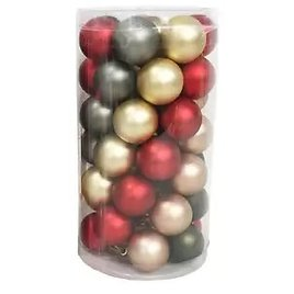 Place & Time Christmas 49 Pk 30mm Ornaments Red Gold & Gray   JOANN