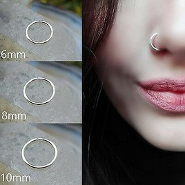 0.8mm Surgical Steel Cartilage Body Piercing Stud Thin Small Nose Rings Hoop