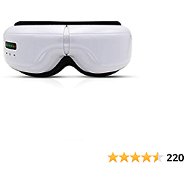 Eye Massager, JUYOU Portable Electric Bluetooth Eye Massager with Heat Air Pressure Vibration, Foldable Rechargeable Eye Therapy Mask, Relieve Eye Strain Dark Circles Eye Bags Dry Eye Improve Sleep