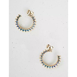 Ombre Pave Circle Studs