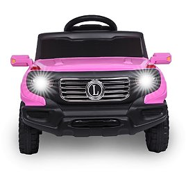 Ktaxon 6V Kids Ride On Car RC Remote Control Battery Powered w/ LED Lights, 3 Speed
