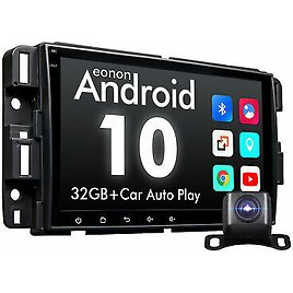 """Android 10 8"""" Car Stereo Radio GPS Navi Bluetooth Touchscreen For GMC Chevy +CAM"""