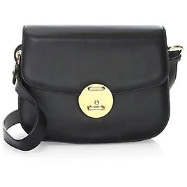 Calvin Klein Small Round Leather Lock Shoulder Bag On SALE   Saks OFF 5TH