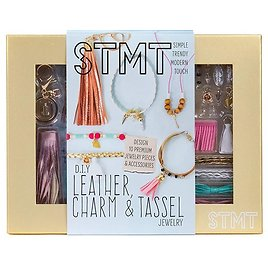 STMT DIY Leather Charm & Tassel Jewelry By Horizon Group USA, Design 10 Vsco Girl Jewelry & Accessories Using Flower Charms, Metal Charms, Leather Tassels, Stone Pendants, Beads & More. Multicolored