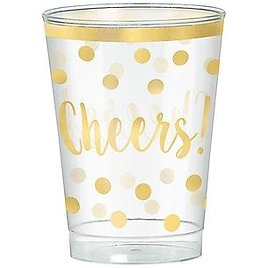 Amscan New Year's Tumbler, Gold/Clear, 30/Set, 2/Pack (350260) | Quill.com