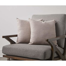Taupe Textured Throw Pillows, 2-Pack