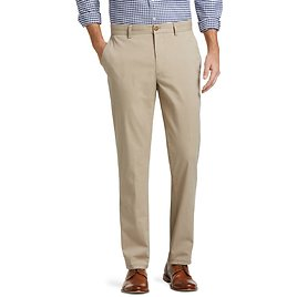 1905 Collection Tailored Fit Flat Front Chino Pants - Ready for Anything   Jos A Bank
