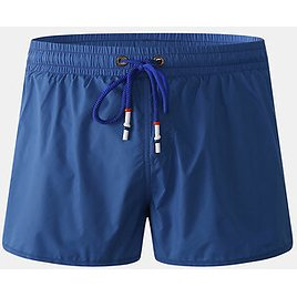 Mens Solid Color Quick Dry Drawstring Casual Beach Board Shorts With Compression Liner