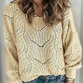 In Fall Oversized Outwear Knit Tops Ladies Loose Shoulder Jackets Warm Knitted