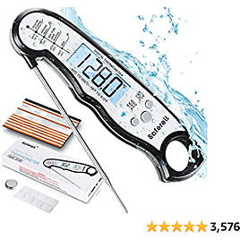 Saferell Instant Read Meat Thermometer for Cooking, Fast & Precise Digital Food Thermometer with Backlight, Magnet, Calibration, and Foldable Probe for Deep Fry, BBQ, Grill, and Roast Turkey