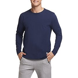 Russell Athletic Men's and Big Men's Long Sleeve Performance T-Shirt, Up to Size 3XL