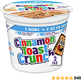 Cinnamon Toast Crunch 20z Cereal Cups 12-Pack