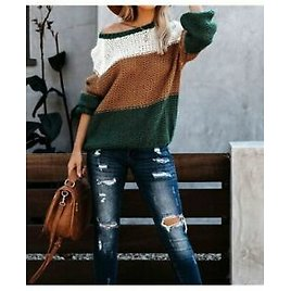 Long Sleeve in Spring Knit Tops Shirts Jackets Sweaters Autumn Warm Casual Loose