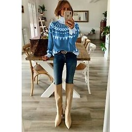 Knit Coats Sweater Pullover Womens Girl Winter Coat in Spring Students Women's
