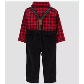Baby Boys' Buffalo Plaid Top & Bottom Set with Bowtie - Just One You® Made By Carter's Red/Black