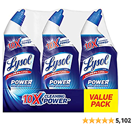 Lysol Power Toilet Bowl Cleaner, 10x Cleaning Power, 3 Count