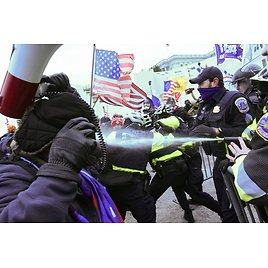 Images: Violent Clashes Break Out As Trump Supporters Storm The U.S. Capitol