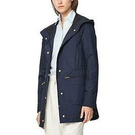 Cole Haan Womens Quilted Hooded Waterproof Raincoat Outerwear BHFO 3623