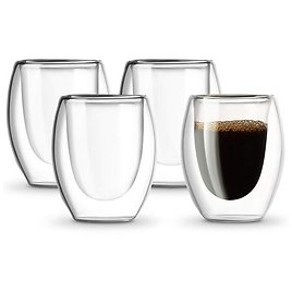 4-Count Double Walled Espresso Cups