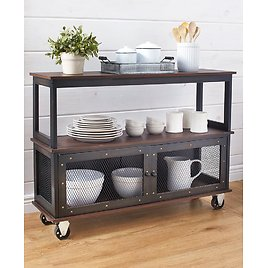 Industrial-Style Rolling Buffet Carts
