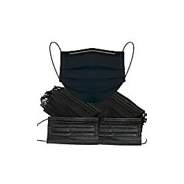 50 Pack Disposable Face Masks,Black Disposable Face Mask: Clothing