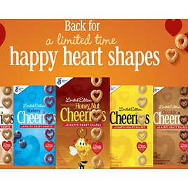 Cheerios Brings Back Happy-Heart Shaped O's to Inspire Heart-Healthy Lifestyle + Free Offer Rebate