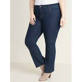 Mid-Rise Plus-Size Boot-Cut Jeans | Old Navy