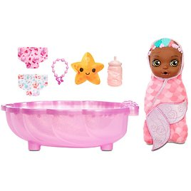 BABY Born Surprise Mermaid Surprise – Baby Doll with Pink Towel and 20+ Surprises