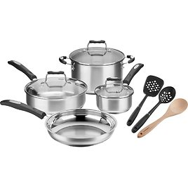 Cuisinart 10 PC Cookware Set Stainless Steel + F/S