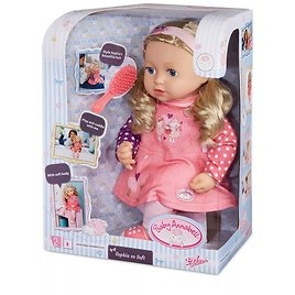 Zapf Sophia So Soft Baby Doll with Brushable Hair- Pink Outift