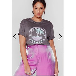 Welcome to Miami Beach Plus Graphic Tee | Nasty Gal