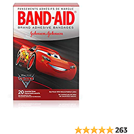 BAND-AID Bandages Disney Cars Assorted Sizes 20 Each (Pack of 2)