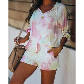 Romance In The Air Pocketed Tie Dye Knit Shorts - FINAL SALE