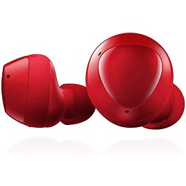 Samsung Galaxy Buds Plus, True Wireless Earbuds (Wireless Charging Case Included) – US Version, Red / White