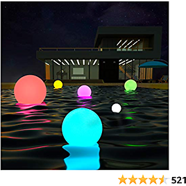 LOFTEK LED Portable Dimmable Floating Pool Lights Ball, 6-inch Cordless Night Light with Remote, 16 RGB Colors & 4 Modes, Rechargeable & Waterproof, Perfect for Indoor/Outdoor, Party Decor, 1-Pack