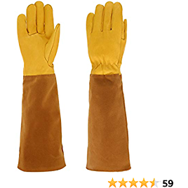 RXG Long Gardening Gloves for Women and Men, Goatskin Leather Rose Pruning Gloves Thorn Proof, Ideal Gardening Gifts and Tools