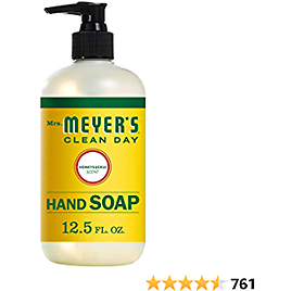 Mrs. Meyer's Clean Day Liquid Hand Soap, Cruelty Free and Biodegradable Formula, Honeysuckle Scent, 12.5 Oz