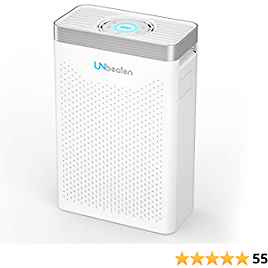 UNbeaten Pets 300 Hepa Air Purifiers for Home Large Room, Bedroom and Office, True HEPA Air Filters Reduce Dust, Smoke, and Airborne Pollutants, Perfect for Spaces Up to 800 Sq Ft