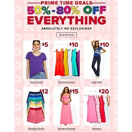 Everything 50%-80% Off, No Exclusions
