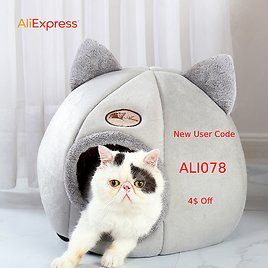 Pet Bed for Dog Donut Bed Plush Cat Bed Accessories Kennels for Dogs Mascotas Productos Fluffy Rattan Cat Nest Coussin Chat