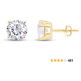 Last Day! Take 20% Off + Free Shipping: Round Natural Diamond Stud