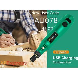 20% Off and An Extra 4$ Off: Mini Wireless Drill Electric Carving Pen