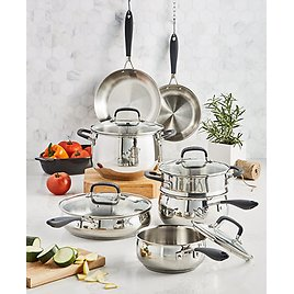 Stainless Steel 12-Pc. Cookware Set