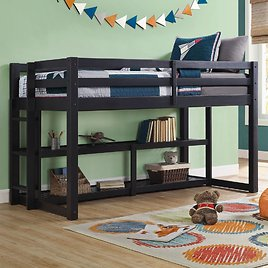 Greer Twin Loft Storage Bed (4 Colors)